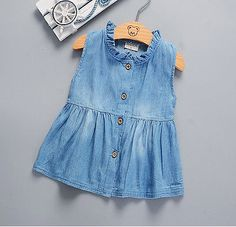 Summer INS HOT Sleeveless Princess Dress Denim Tutu Dresses Toddler  Kids Girls Baby New Drop Shiping Items