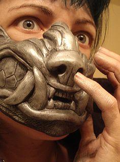 Werewolf half mask  by ~missmonster