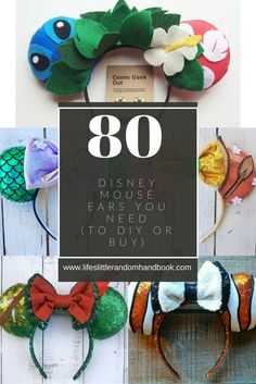 Mickey Mouse ears are an iconic staple in Disney culture! Disney Ears Headband, Diy Disney Ears, Disney Headbands, Disney Mickey Ears, Ear Headbands, Diy Mickey Mouse Ears, Mickey Mouse Ears Headband, Do It Yourself Fashion, Do It Yourself Home