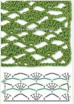 Crochet diamond stitch |