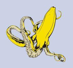 textuur banaan inktvis