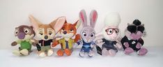 6 Zootopia Plush Stuffed Animal Judy Nick Finnick Mr Big Bellwether Mr Otterton  #Disney