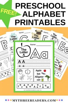 26 Preschool printable alphabet pages for letters a to z. Quick, easy and free to print to teach to your beginning reader. Learn the alphabet and all the letters with these cute printables! Education for beginning readers Preschool Learning Activities, Free Preschool, Preschool Curriculum, Preschool Printables, Preschool Lessons, Homeschooling, Preschool Prep, Teach Preschool, Preschool Education