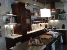 This is my favorite kitchen design... I think there is a similar one at the design  center. this is maybe a little karbon crazy. :)