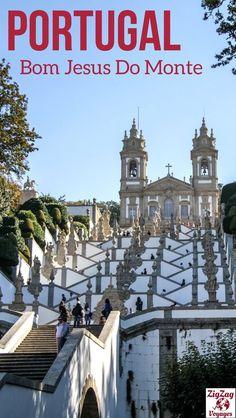 Portugal Voyage - Au nord du pays, pas très loin de Porto, se trouve l'impressionnant sanctuaire de Bom Jesus do Monte in Braga | #Portugal | Portugal Porto | Portugal itinéraire | Portugal road trip