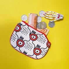 Artwork coin purse #coinpurse #artworkaccessories #illustration #quirky
