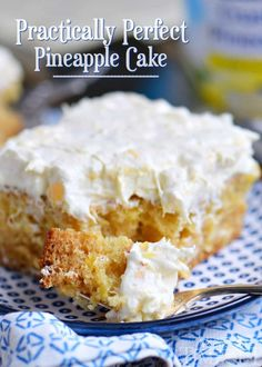 13 Desserts, Quick Easy Desserts, Delicious Desserts, Yummy Food, Pineapple Recipes, Pineapple Cake, Pineapple Fluff, Pineapple Upside, Pineapple Cheesecake