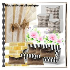 """""""MODERN HOUSE BOUTIQUE #31"""" by nizaba-haskic ❤ liked on Polyvore featuring Antique Drapery Rod and modern"""