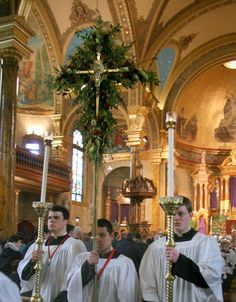 Palm Sunday - Canons Regular of St. John Cantius in Chicago.