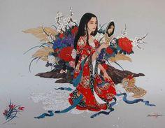 Её работы – нежнейшие и красочные картины на китайском шелке, с огромным удовольствием покупают ценители живописи во всем мире. Если вы ещё не видели её работ – давайте знакомиться.