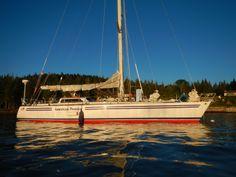 American Promise moored off Hurricane Island, ME Marine Debris, Naval Academy, Golden Gate Bridge, Maine, Sailing, Boat, Island, History, American