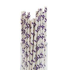 NCAA(TM) LSU® Paper Straws