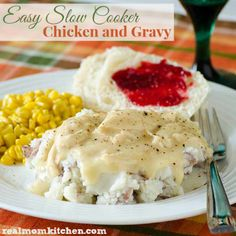 Easy Slow Cooker Chicken and Gravy - Real Mom Kitchen