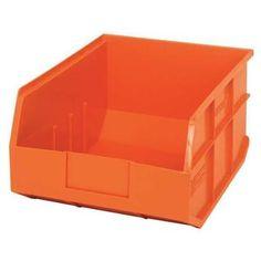 QUANTUM STORAGE SYSTEMS SSB445OR Shelf Bin, 11 In. W, 7 In. H, Orange