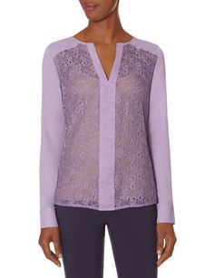 Lace Front Layering Blouse from THELIMITED.com