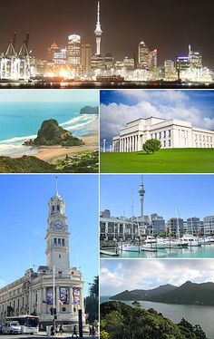Montage of photos from the Auckland metropolitan area - NZ. I love you Auckland Oh The Places You'll Go, Places Around The World, Places To Travel, Places Ive Been, Places To Visit, Around The Worlds, New Zealand North, Auckland New Zealand, Islas Cook
