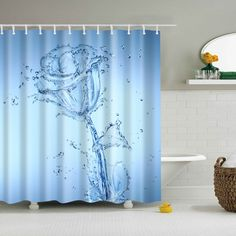 Delicious 3d Pretty Flowers 78 Shower Curtain Waterproof Fiber Bathroom Windows Toilet To Win Warm Praise From Customers Bath Curtains, Drapes & Valances