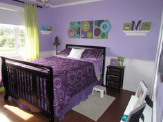color inspiration: lavender, lime, teal. and this is a baby to big girl room! cute :)