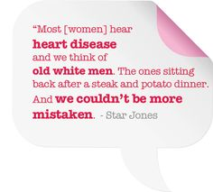 Heart disease quote from Star Jones. Wear Red on Feb 1!