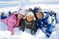 Family snow holiday