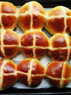 Hot cross buns de Pâques.