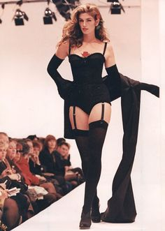 The catwalk was her stage! Cindy Crawford struts her stuff on the runway back in her hey day