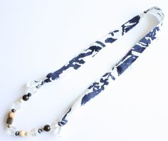 Fabric and Bead Necklace DIY