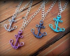 Wire Work Anchor Nautical Faith and Hope Necklace Choose your own Color 2019 Draht-Arbeit-Anker nautische Faith und von RefreshingDesigns The post Wire Work Anchor Nautical Faith and Hope Necklace Choose your own Color 2019 appeared first on Metal Diy. Wire Wrapped Jewelry, Wire Jewelry, Beaded Jewelry, Jewelery, Handmade Jewelry, Wire Bracelets, Necklaces, Copper Bracelet, Wire Earrings
