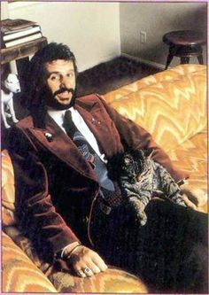 ringo starr, couch, and cat