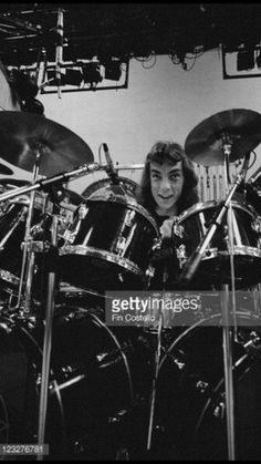 Neil Peart, drummer with Canadian rock band Rush, sitting behind his drumkit on… Rush Concert, A Farewell To Kings, Modern Drummer, Rush Band, Drummer T Shirts, Alex Lifeson, Geddy Lee, Neil Peart, Progressive Rock