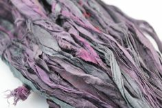 100gr Two Toned Black & Purple Recycled and by ChristinasYarns, $11.95