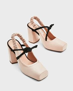 ZARA - WOMAN - LEATHER BACKLESS HIGH HEEL SHOES