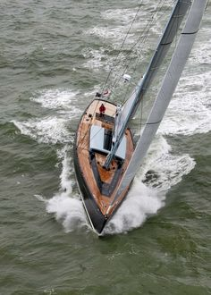 Tulip 88 on the North Sea Luxury Sailing Yachts, Naval, Yacht Boat, Yacht Design, Super Yachts, Sail Away, North Sea, Wooden Boats, Tall Ships