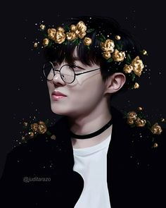 BTS Jhope is such a sunshine, he had to wear yellow flowers . (First time i do jhope and i like it cuz his face somehow never looked like him when i did it) .