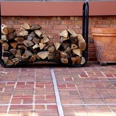 How To Make A Firewood Rack From Pipe