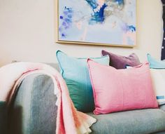 Delectable gelati colours with our Luca Cushions in store at Eadie stockist Nixon+Maude 💙 Eadie www.eadielifestyle.com.au