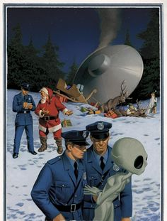MCH-SCI FI Channel: Santa vs Alien ad work within the media category Print Ad was released in Dec 2007 for France Haha, Aliens And Ufos, Christmas Ad, Xmas, Vintage Christmas, Flying Saucer, Unique Image, Sci Fi Art, Funny Photos