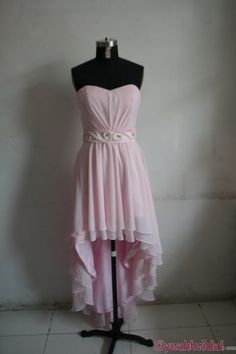 Prom Dresses high low prom dress pink