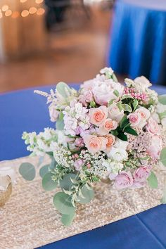 romantic pink centerpieces | Sara Lynn Photographic | Glamour & Grace