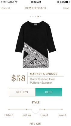 #stitchfix @stitchfix stitch fix https://www.stitchfix.com/referral/3590654 Such a cool pattern. Love black tops like this with patterns and interest