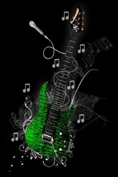 Funky-green-guitar-mobile-wallpapers.jpg (320×480)