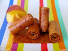Fruit leather (aka fruit roll-ups) without a dehydrator.  Can also be done with applesauce, apples, pears, plums, banana, etc. Great way to get kids to eat their fruits(and not realize it)