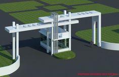 Gate Wall Design, Grill Gate Design, Entrance Design, Main Gate Design, Entrance Gates, House Front Design, Modern House Design, Gate Designs Modern, Compound Wall Design