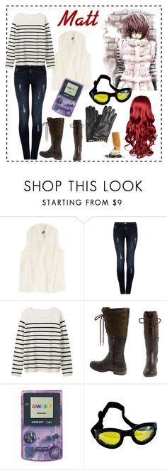 """""""Matt; Death Note /Requested by @troylerzalfie/"""" by fem-satan ❤ liked on Polyvore featuring DKNY, Dorothy Perkins, UGG Australia, Nintendo and Valentino"""