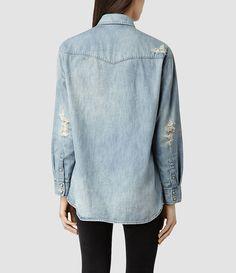 Womens Womens Cannon Shirt (Indigo) - product_image_alt_text_3