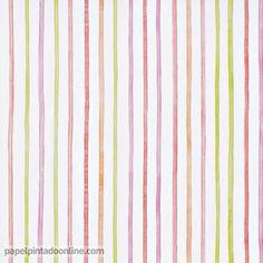 Papel pintado infantil lilleby 2657 de rayas verticales - Papel pintado a rayas verticales ...