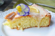 Or otherwise known as ~ Luscious Lemon Cake This is a French angel food cake. According to Laura Calder from French Food At Home, it's French because Americans use just egg whites and the Fre…