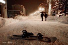 sciare in strada