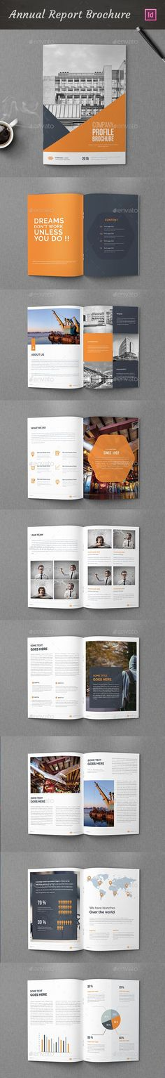 Annual Report Brochure Template InDesign INDD. Download here: graphicriver.net/...