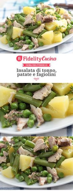 Insalata di tonno, patate e fagiolini - Recipes, tips and everything related to cooking for any level of chef. Light Recipes, Wine Recipes, Salad Recipes, Cooking Recipes, Healthy Recipes, I Love Food, Good Food, Yummy Food, Antipasto